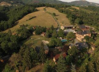 Vue aérienne de la ferme du Duzou